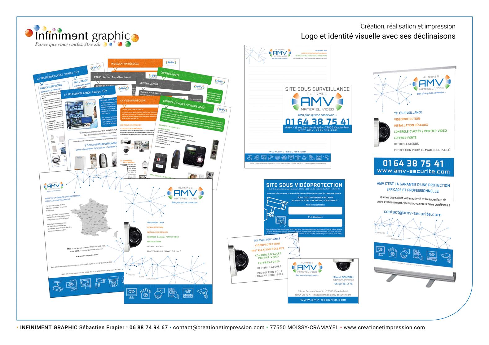 AMV Evolution de l'identité visuelle Pochette avec fiches Papeterie Marquage