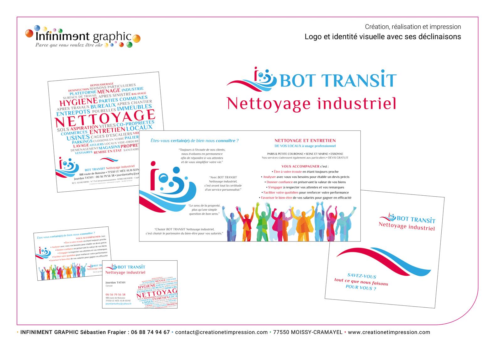 Bot Transit Logo Plaquette carte de visite