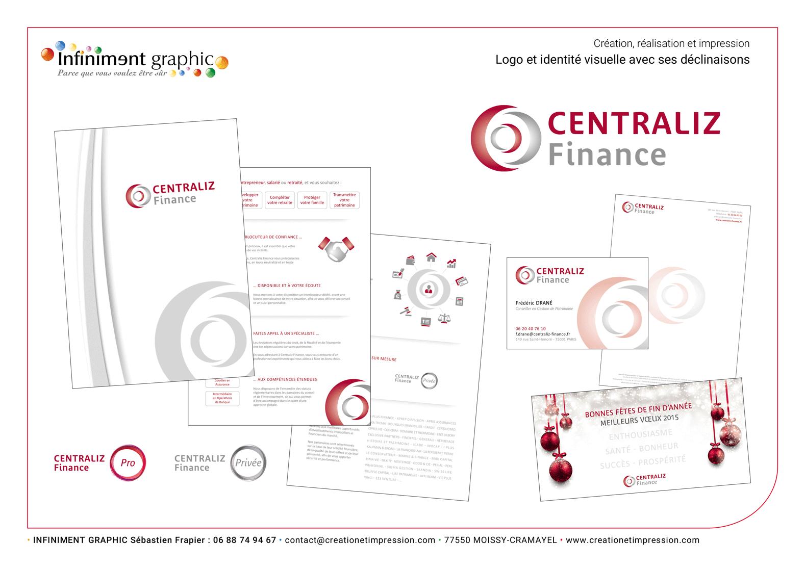 Centraliz Finances Logo Plaquette Papeterie Voeux