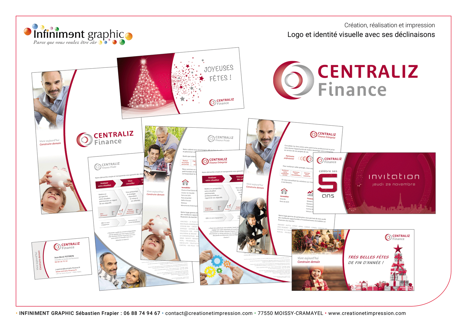 Centraliz Finances Nom Logo Pochette avec fiches