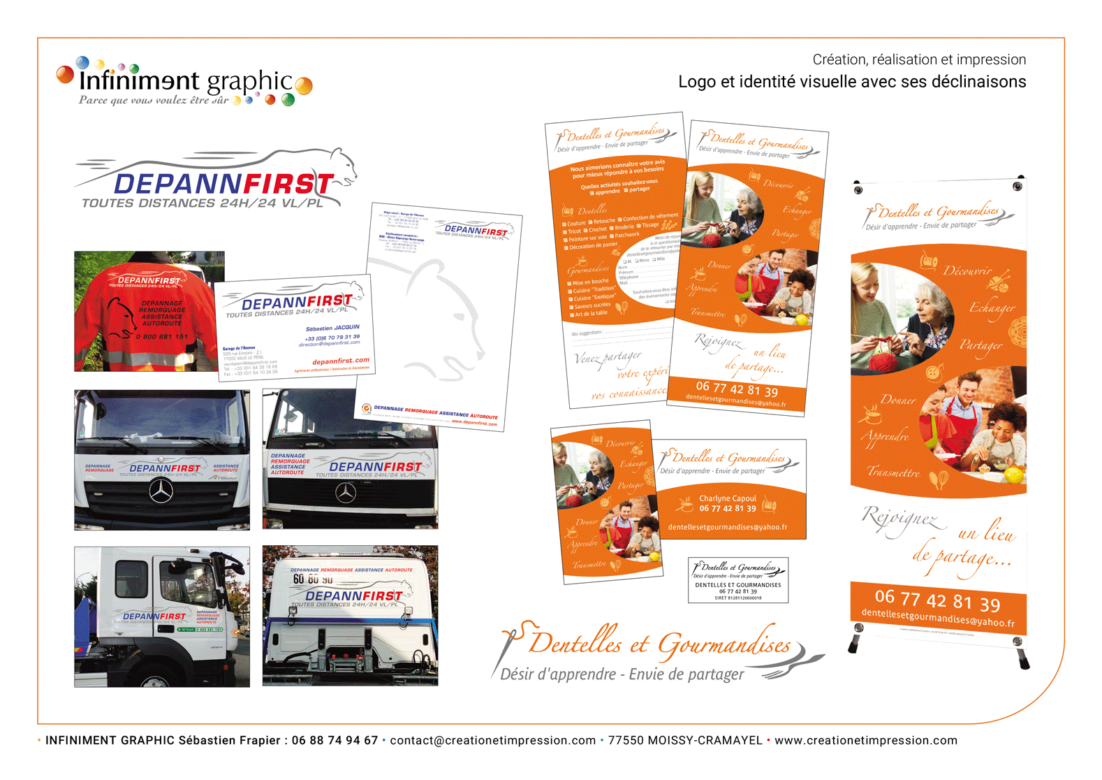 Depannfirst Logo Maraquage Papeterie Flyer