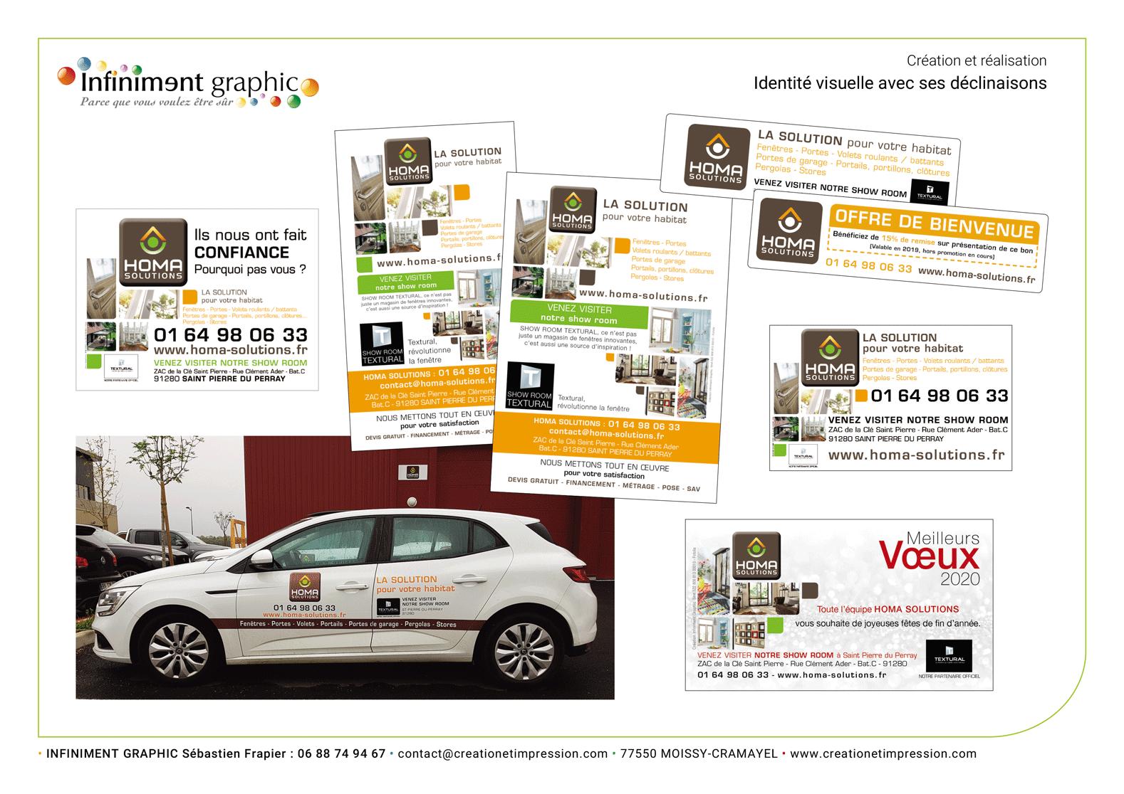 Homa Solutions Publicités Voeux Véhicules Panneaux