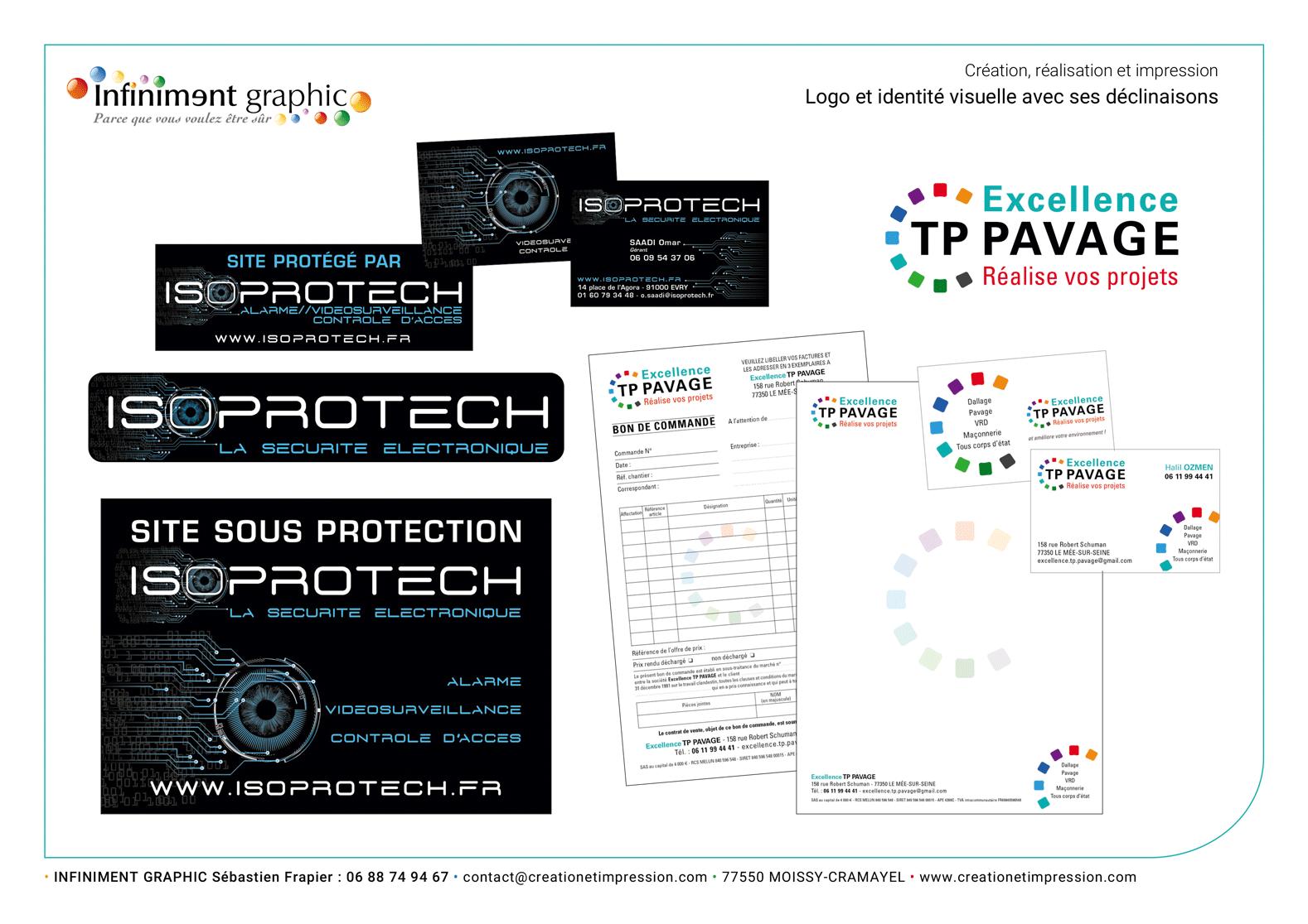 Isoprotech TP Pavage Logos Panneaux Adhésifs Papeterie