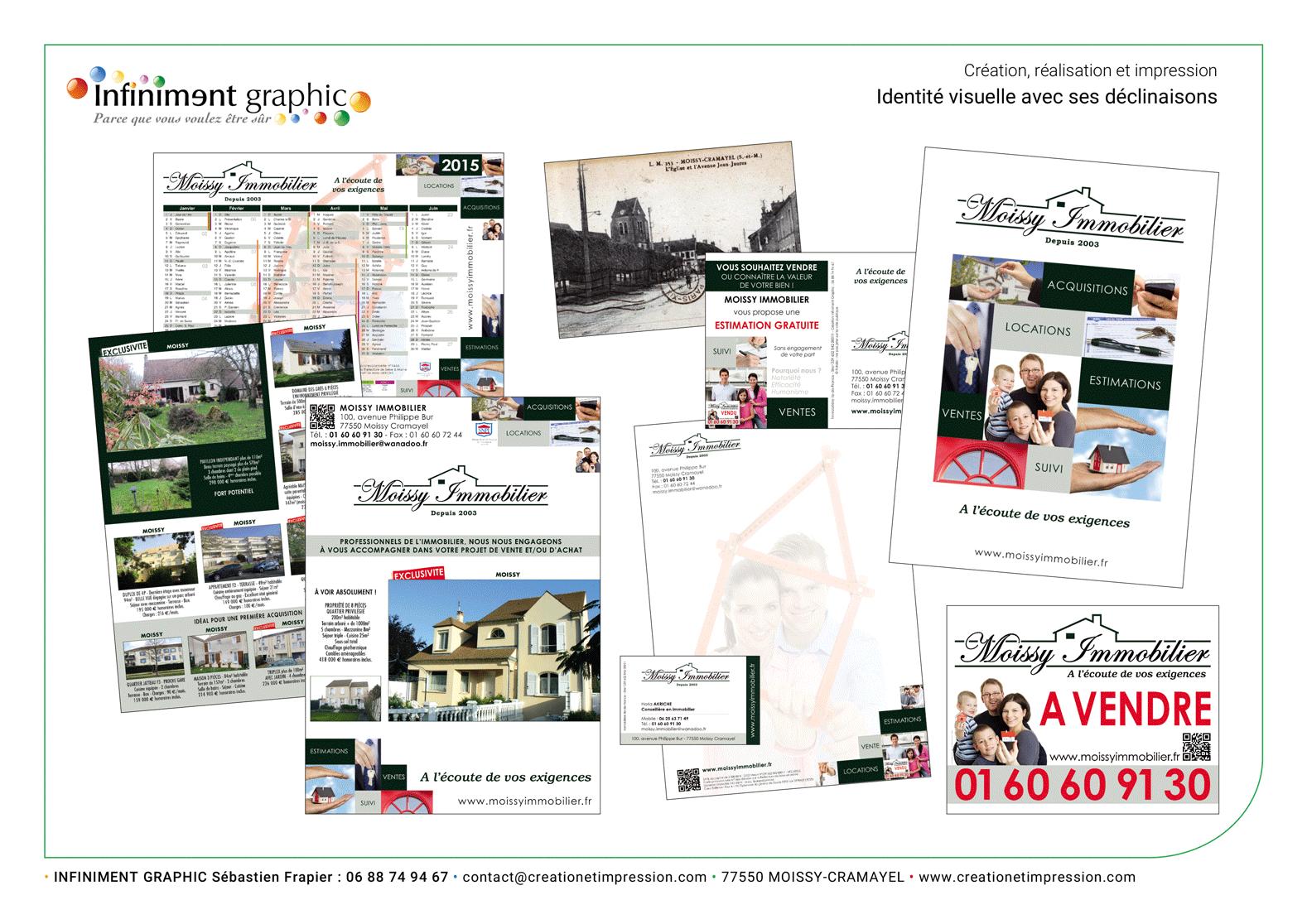 Moissy Immobilier Pochette Brochure TDL CDV Carte postale
