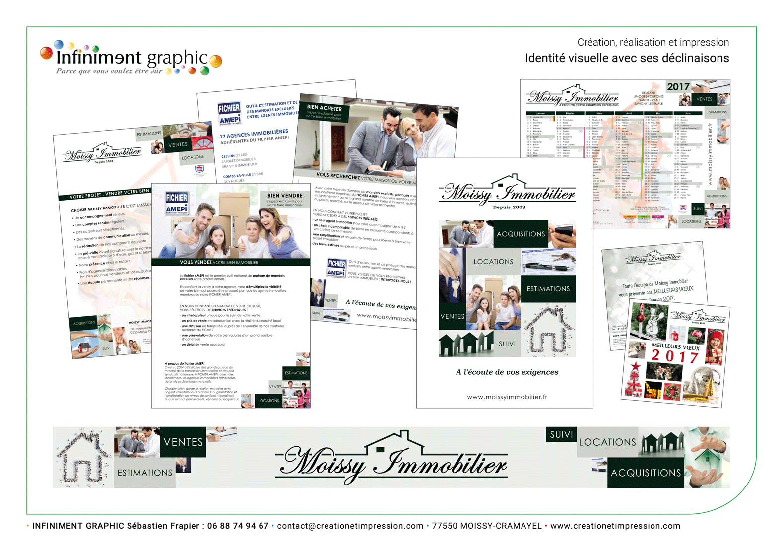 Moissy Immobilier Flyers Calendriers Voeux